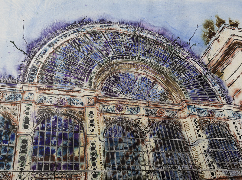 Royal Opera House - ©2019 - Cathy Read - Watercolour and Acrylic - 56x76cm