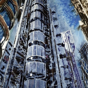©2012 - Cathy Read - The Lloyds Building - Mixed media-75x55cm