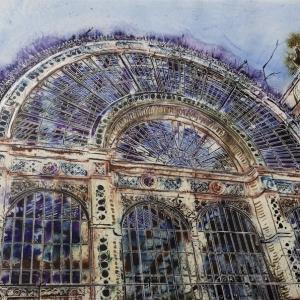 Royal Opera House - ©2019 - Cathy Read - Watercolour and Acrylic - 56x76cm