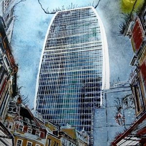Walkie Talkie - ©2019 - Cathy Read - 50 x 40 cm