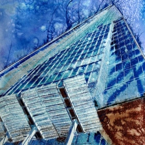 Birth-of-the-Shard-©2012-Cathy-Read-Watercolour-and-Acrylic-ink-76x56cm