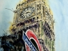 London Icons - ©2016  Cathy Read-Watercolour-and-Acrylic - 76cm x 56cm