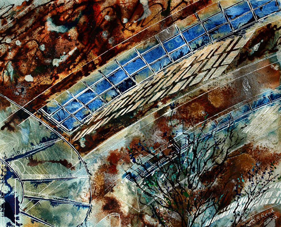 Sunlight Shadows ©2012 - Cathy Read - Mixed Media - 40x50cm