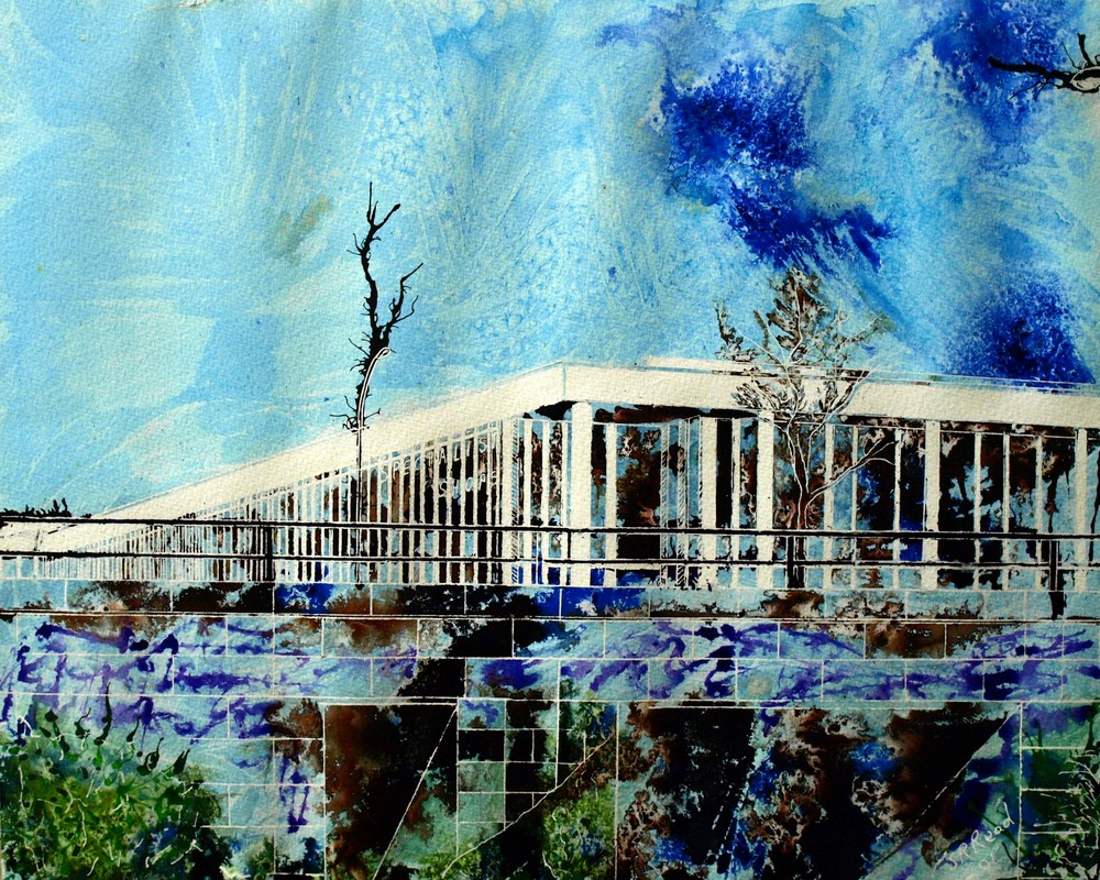 Underpass -  ©2012 - Cathy Read - Watercolour and acrylic ink- 50x40cm