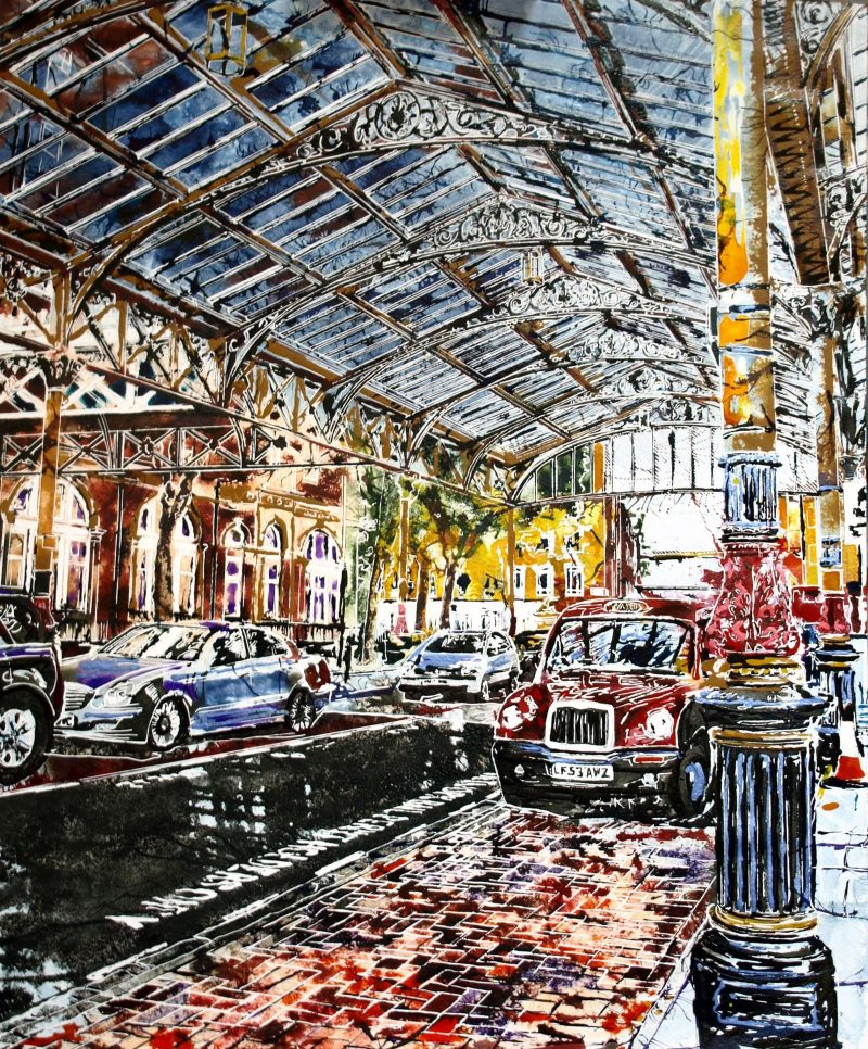 Marylebone Station -©2017 - Cathy Read -  Watercolour and Acrylic  - 51 x 61cm