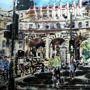 Admiralty Arch-©2016-Cathy-Read-Watercolour-and-Acrylic-40-x-50-cm