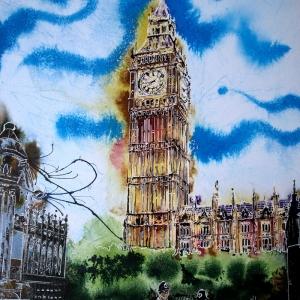 On Duty - ©2019 - Cathy Read -Watercolour and Acrylic - 51cm x 41cm