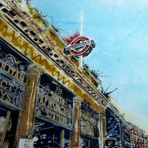 Kensington-Station = ©2019-Cathy-Read-40-x-50-cm