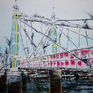 Albert Bridge - ©2020 - Cathy Read - 40 x 50 cm