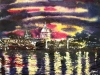 Thames Reflections - ©2020-Cathy Read-Watercolour and Acrylic