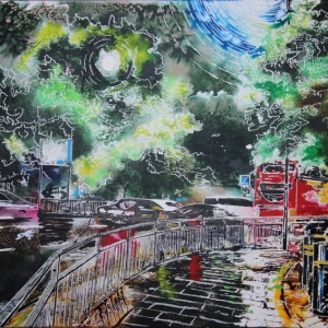 ©2020-Cathy-Read-Leaving-Hammersmith-Apollo-Watercolour-and-Acrylic-on-paper-on-board-800