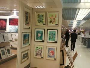 Cathy Read Art on Display at John Lewis - before opening