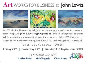 Artworks for Business Art Exhibition at John Lewis